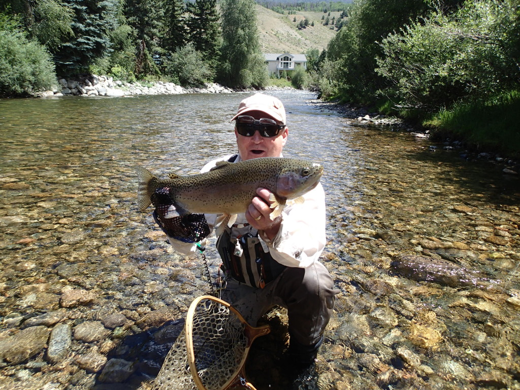 Just another huge trout I landed on the Blue