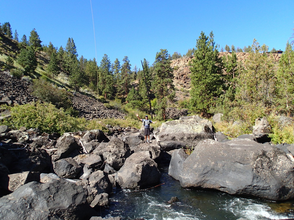 Bill Will slaying Redbands on the Deschutes