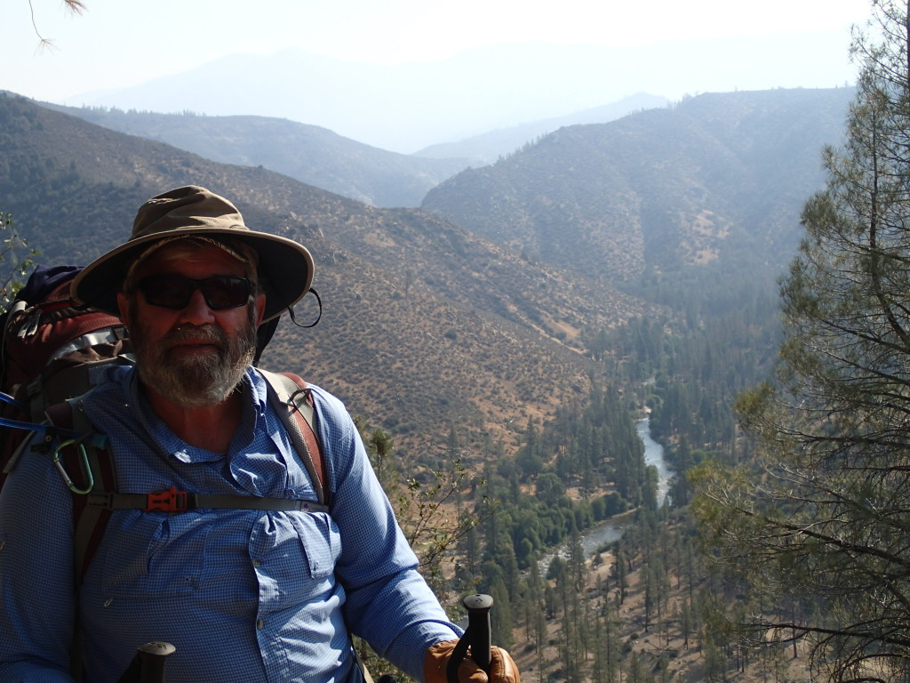 On the 1100 foot decent into the canyon to get to the Upper Kern River