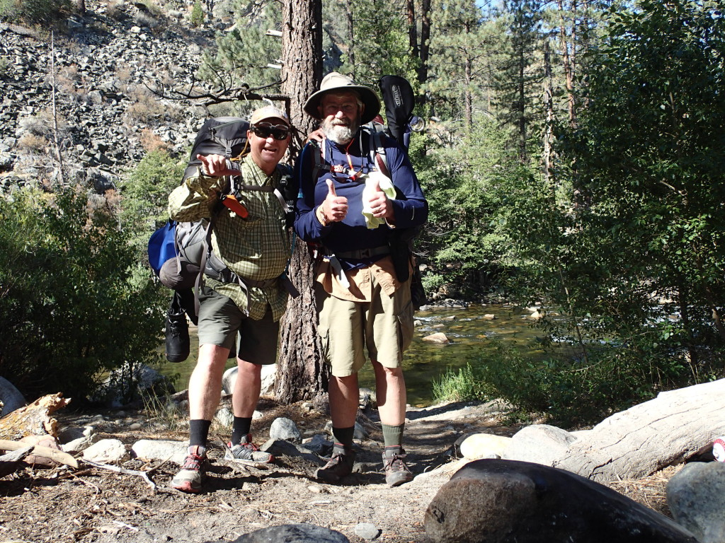 Tim and Mike posing in front of the mighty Upper Kern River