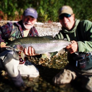 Trophy trout catch with the help of John Holman