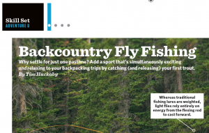My fly fishing 101 article in Backpacker Magazine | TimHuckaby com
